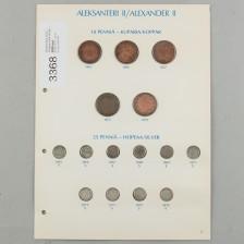 Suomalaisia rahoja, 10 penniä ja 25 penniä, 5+9