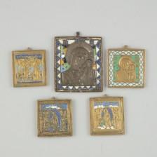 Metalli ikoneja 5 kpl