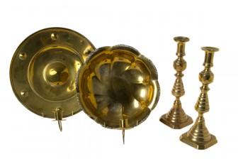 Lampetteja, 2 kpl ja kynttilänjalkapari