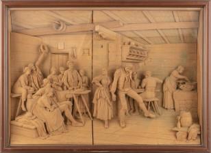 Puuveistostaulu, diorama
