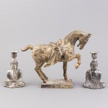 Figuriini ja kynttiläjalkapari