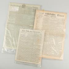 Sanomalehtiä, 3 kpl