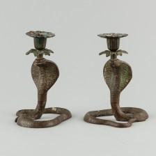 Cobra kynttilänjalkapari