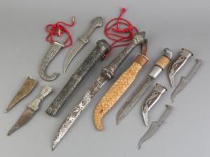 Puukkoja ja veitsiä, 6 kpl
