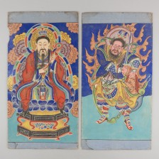 Tiibettiläiset maalaukset, 2 kpl