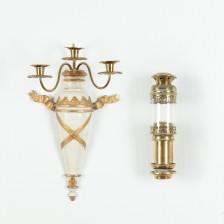 Seinälyhty ja -kynttelikkö