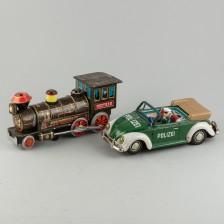 Leikkiauto ja -veturi