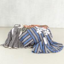Tekstiilejä, 2 kpl (miesten paitoja) ja häpysuojia, 3 kpl ym.