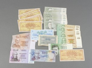 Erä kotimaisia seteleitä