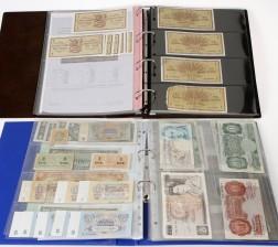 Erä suomalaisia ja ulkomaisia seteleitä