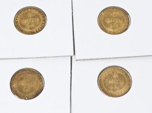 Kultarahoja, 4 kpl