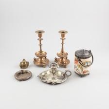 Kynttilänjalkapari, yökynttilänjalka, kulho, koru ja punnuksia