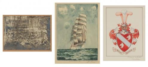 Akvarelleja, 2 kpl ja valokuva