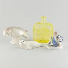 Figuriineja, 3 kpl ja pullo