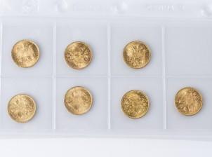 Kultarahoja , 7 kpl
