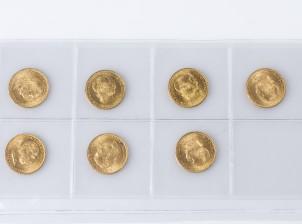 Kultarahoja, 7 kpl
