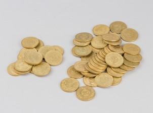 20 mk kolikoita, n. 50 kpl