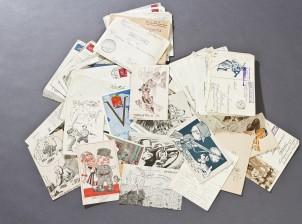 Postikortteja, 17 kpl ja kenttäpostia