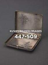Kokoelma savukekoteloita, esineet  447 - 509
