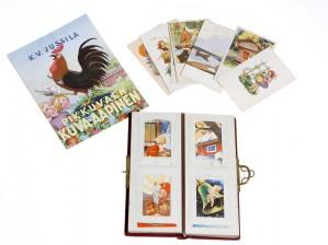 Erä postikortteja ja aapinen