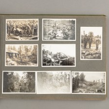 Sodanaikainen valokuva-albumi