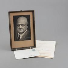 Valokuva ja kirje allekirjoituksella, Jean Sibelius
