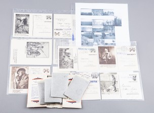 Sotatuomari Paavo Alkion negatiiveja ja postikortteja
