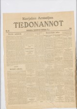 Karjalan Armeijan tiedonantolehti 17.4.1918