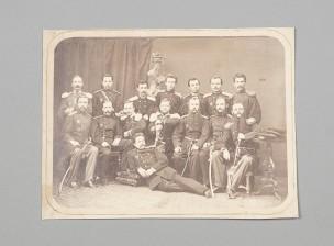 Valokuva, tsaarinaikaista upseeristoa