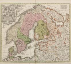 Kartta 1700-luvun alkupuoli