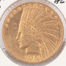 Kultaraha, 10 dollaria 1914