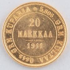 Kultaraha, Suomi 20 mk 1911