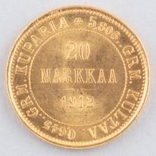 Kultaraha, Suomi 20 mk 1912 s