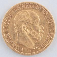 Kultaraha, Saksa 20 mk 1871 A