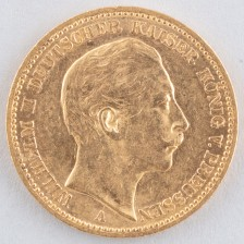 Kultaraha, Saksa 20 mk 1889 A