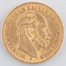 Kultaraha, Saksa 20 mk 1887 A