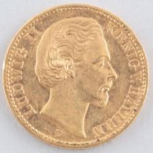 Kultaraha, Saksa 20 mk 1872 D