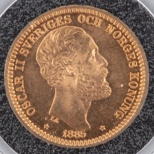 Kultaraha, Ruotsi 20 kr 1885