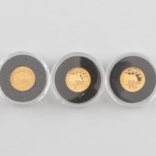 Kultarahoja, 3 kpl, 10 Rand 2004