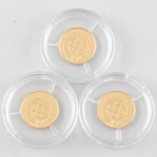 Kultarahoja, 3 kpl, Viro 15,65 krooni 1999