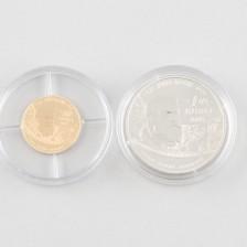 Juhlarahoja, 2 kpl, Ranska 10 € & 1,5 € 2005