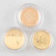 Kultarahoja, 3 kpl, Kanada 2008