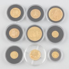 Kultarahoja, 9 kpl
