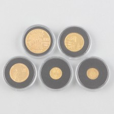 Kultarahoja 5 kpl