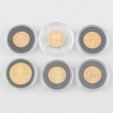Kultarahoja, 6 kpl