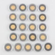 Rahakokoelma, 21 kpl kultarahoja