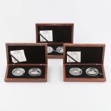 Juhlarahoja, 2 kpl 10 & 25 dollaria Liberia (x3)