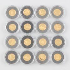 Rahakokoelma, 16 kpl kultarahoja
