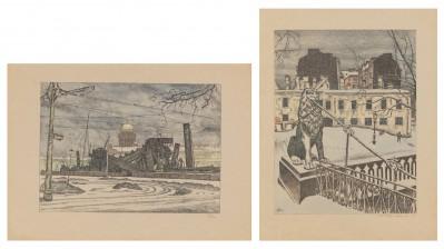 Mstislav Valerianovic Dobuzinskij (1875-1957) , 2 kpl*
