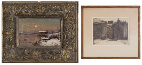 A.W.Finch ja maalaus